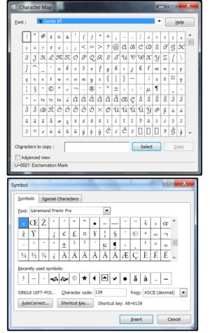 02 how to access glyphsswashes thru character mapms symbols