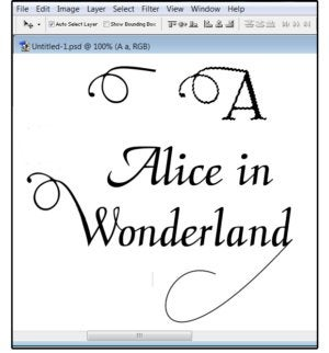 07 slice a swash off the uppercase a attach to the wonderland w