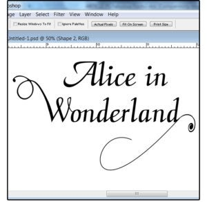 09 attach the custom shape to the text then mergesave the file