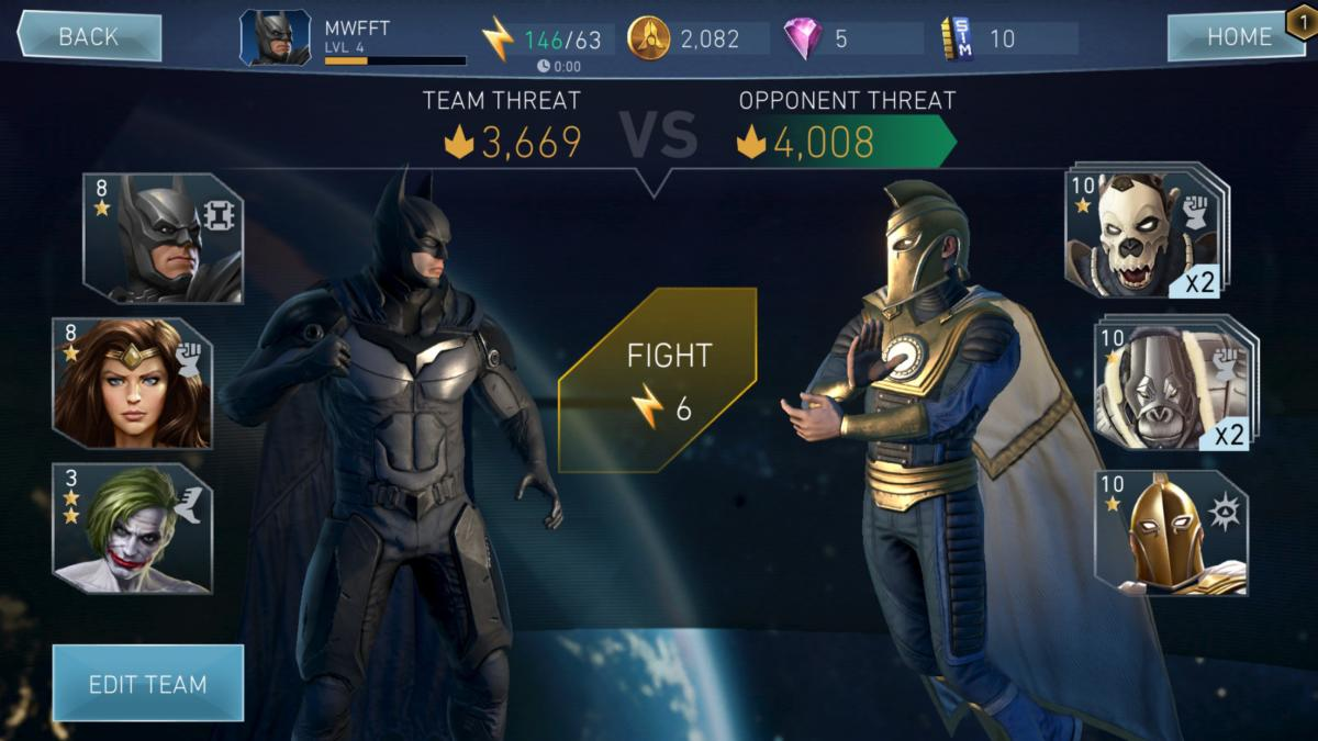 fft injustice2 matchup