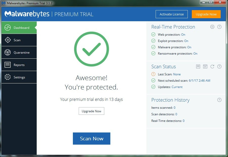 Malwarebytes Anti Malware Free Detects And Removes Malware On