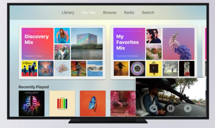 picture in picture apple tv tvos