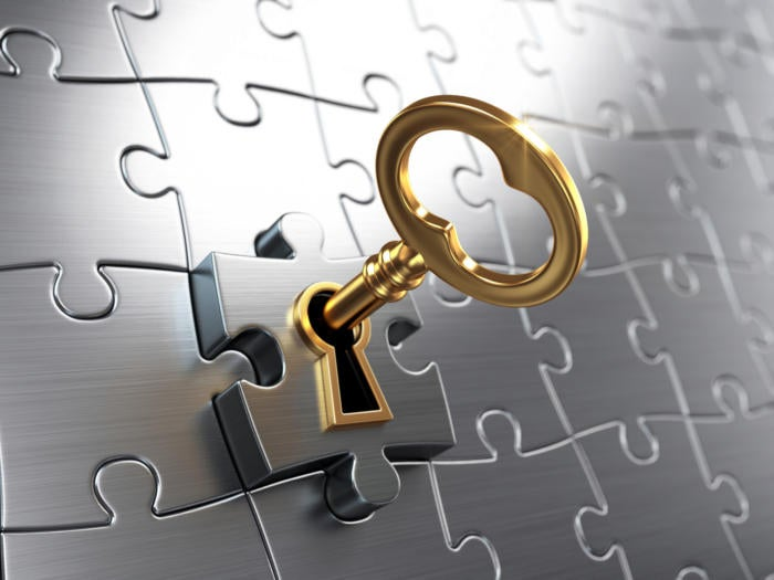 puzzle solution / key / unlocking success