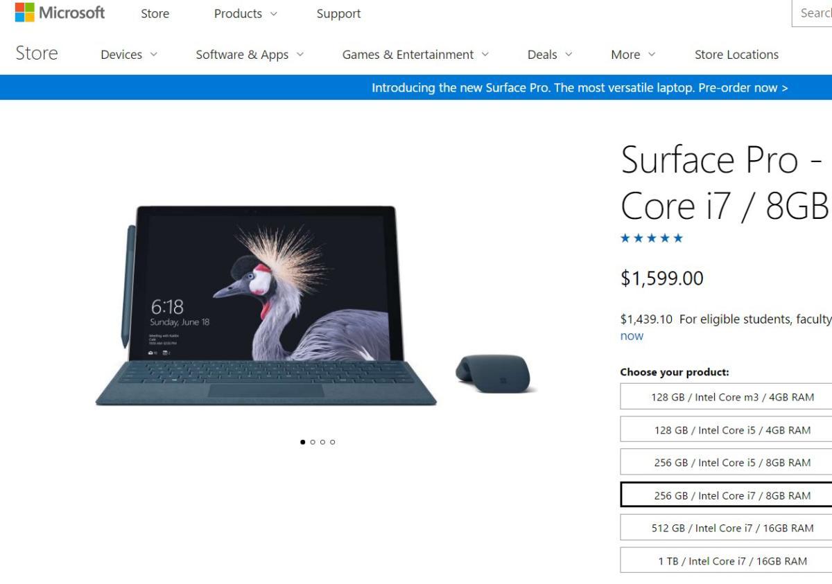 surface pro store shot