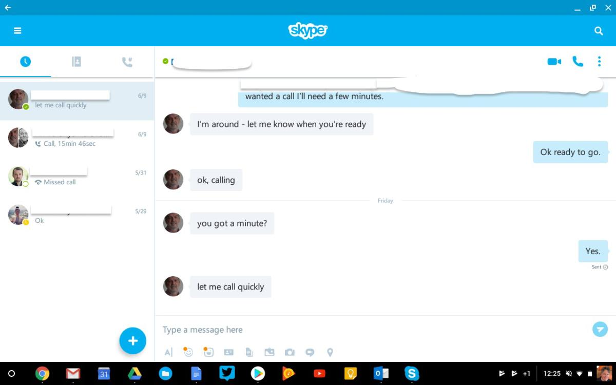 android apps chromebook skype