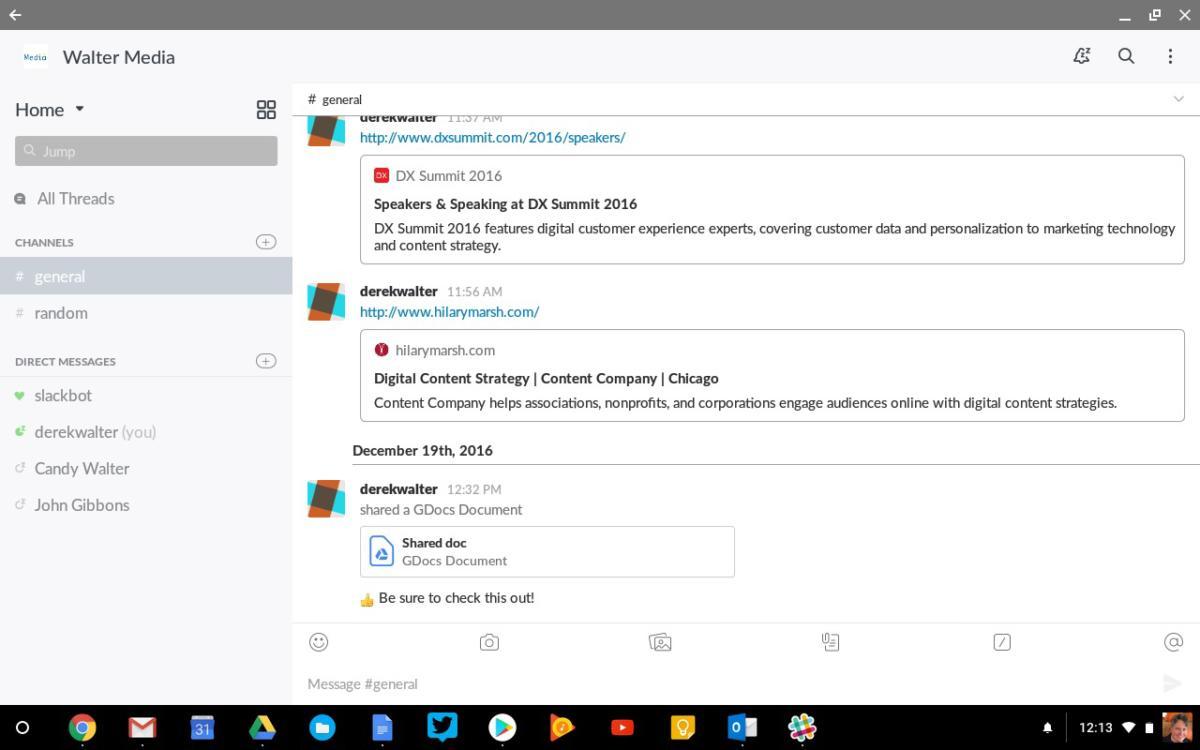 android apps chromebook slack