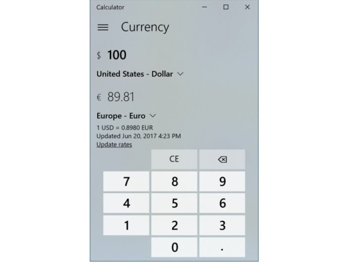 calculator currency converter