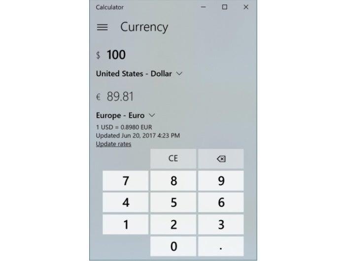 calculator currency converter