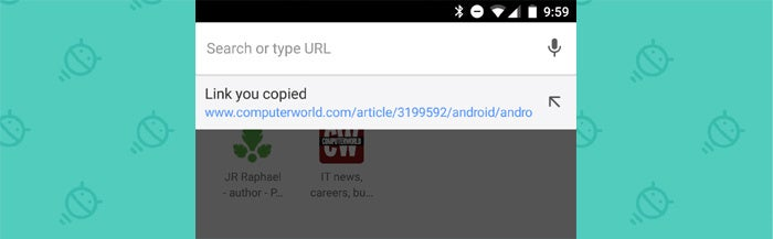 Chrome Android Settings: Address Bar