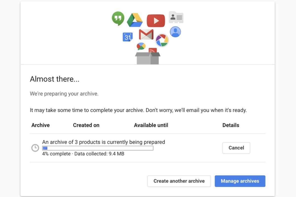 download google data prepping archive