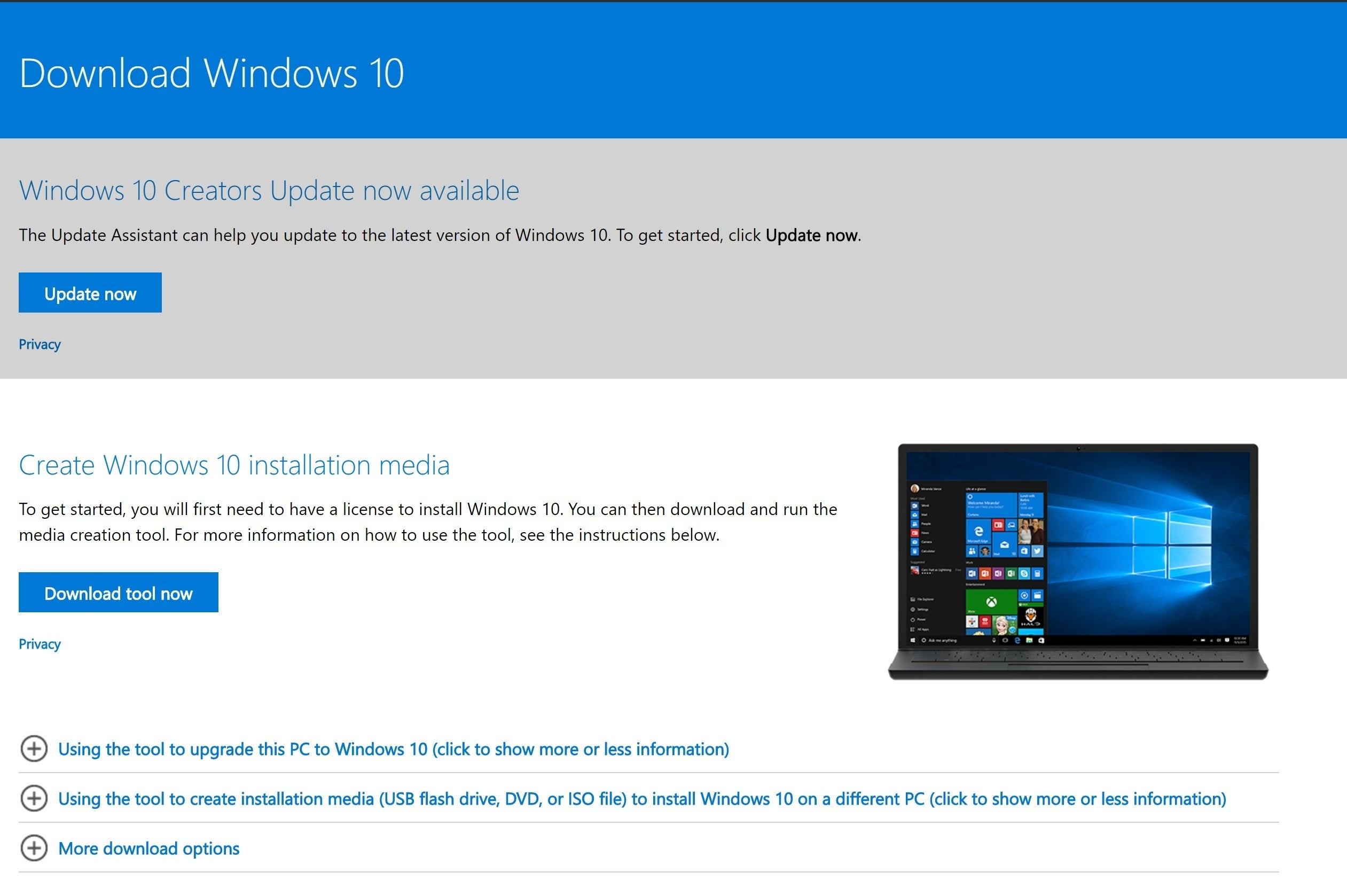 How to download windows 10 without media creation tool | a.