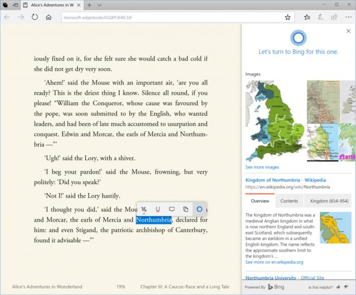 ebook annotation cortana