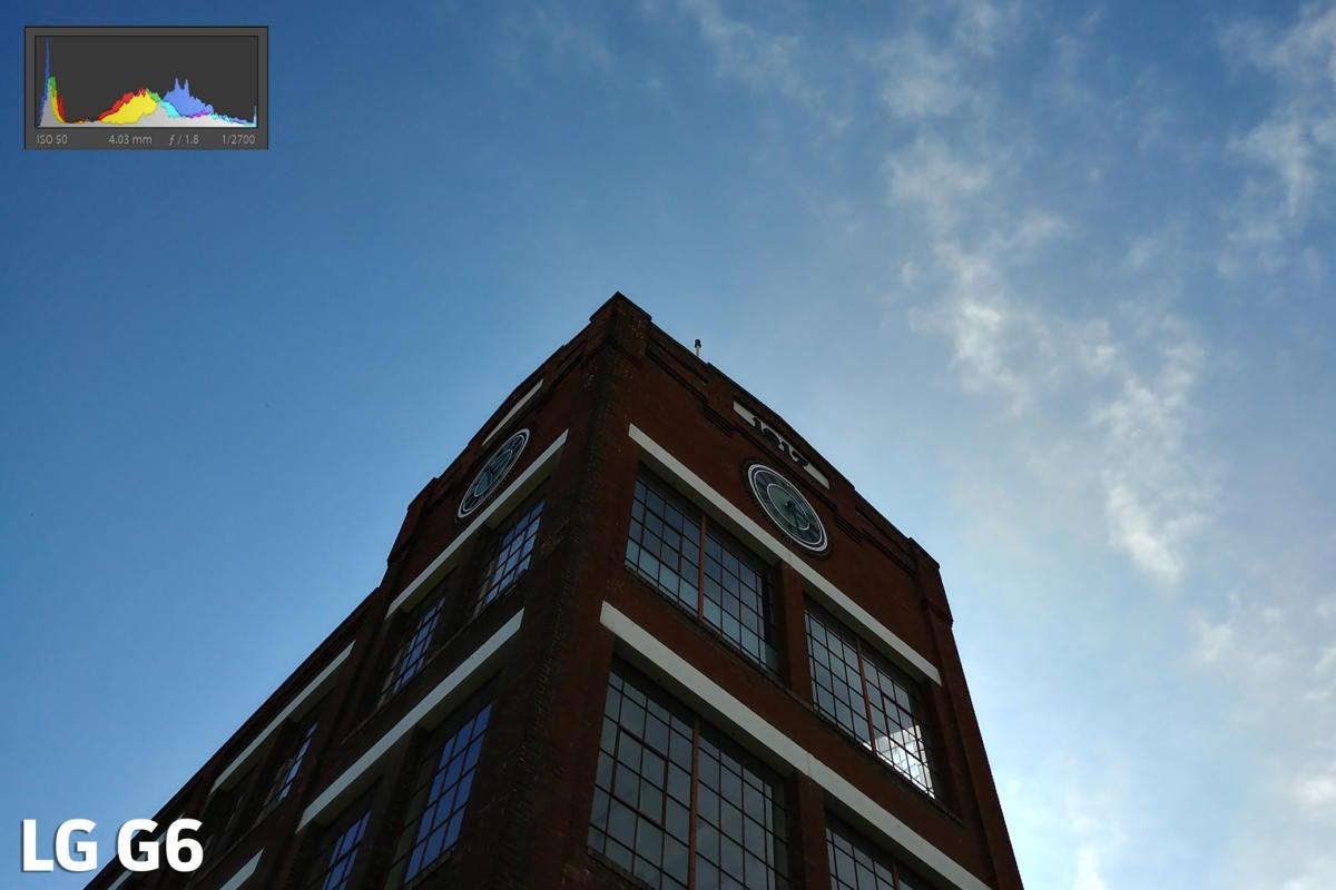 LG G6 camera exposure test shot
