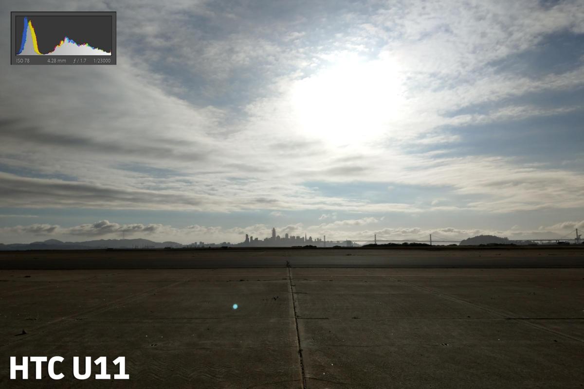 HTC U11 camera exposure test shot