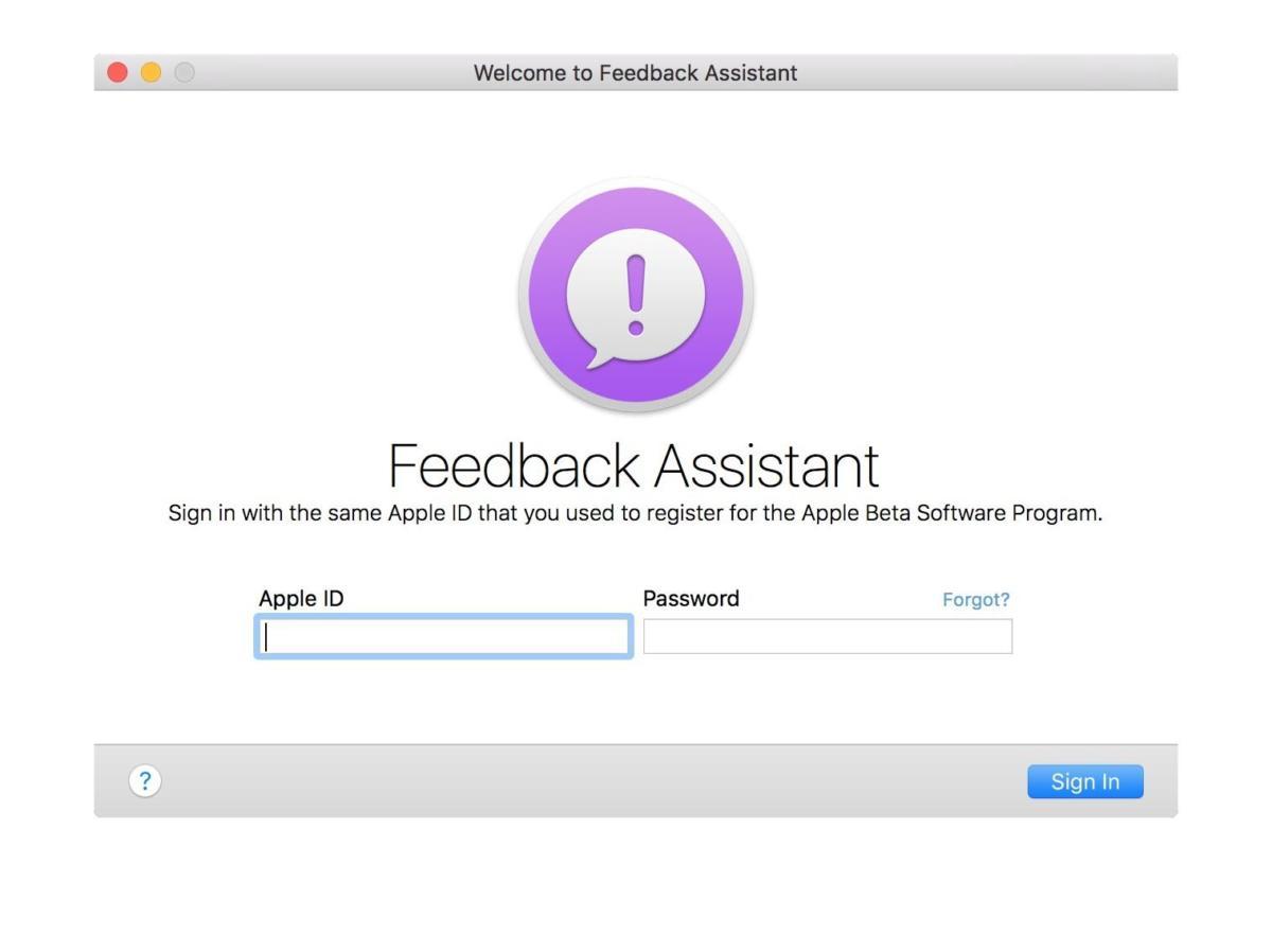 feedback assistant sierra