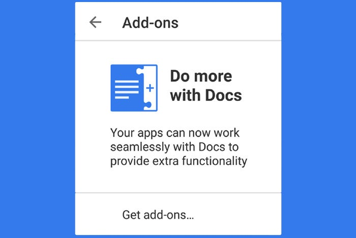Google Docs Add-ons Android