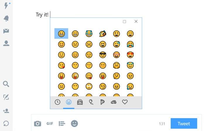 Windows 10 16215 hardware keyboard emoji