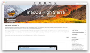 high sierra beta app store