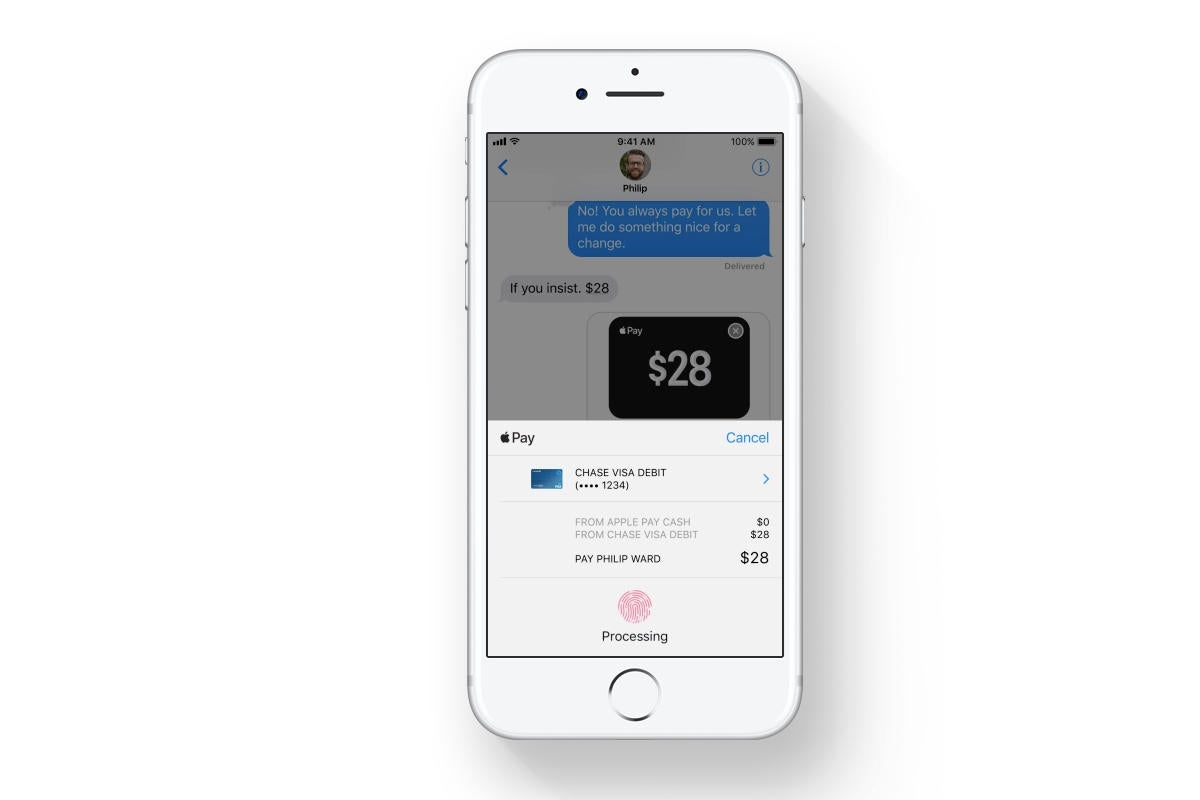 Apple Pay P2P payments are part of Fintech