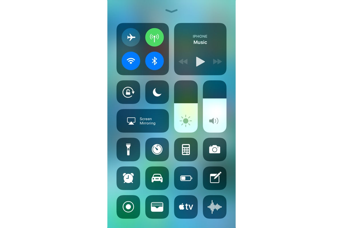 ios 11 control center see larger image