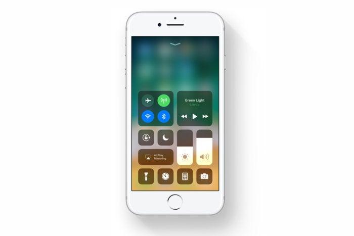 ios 11 control center iphone