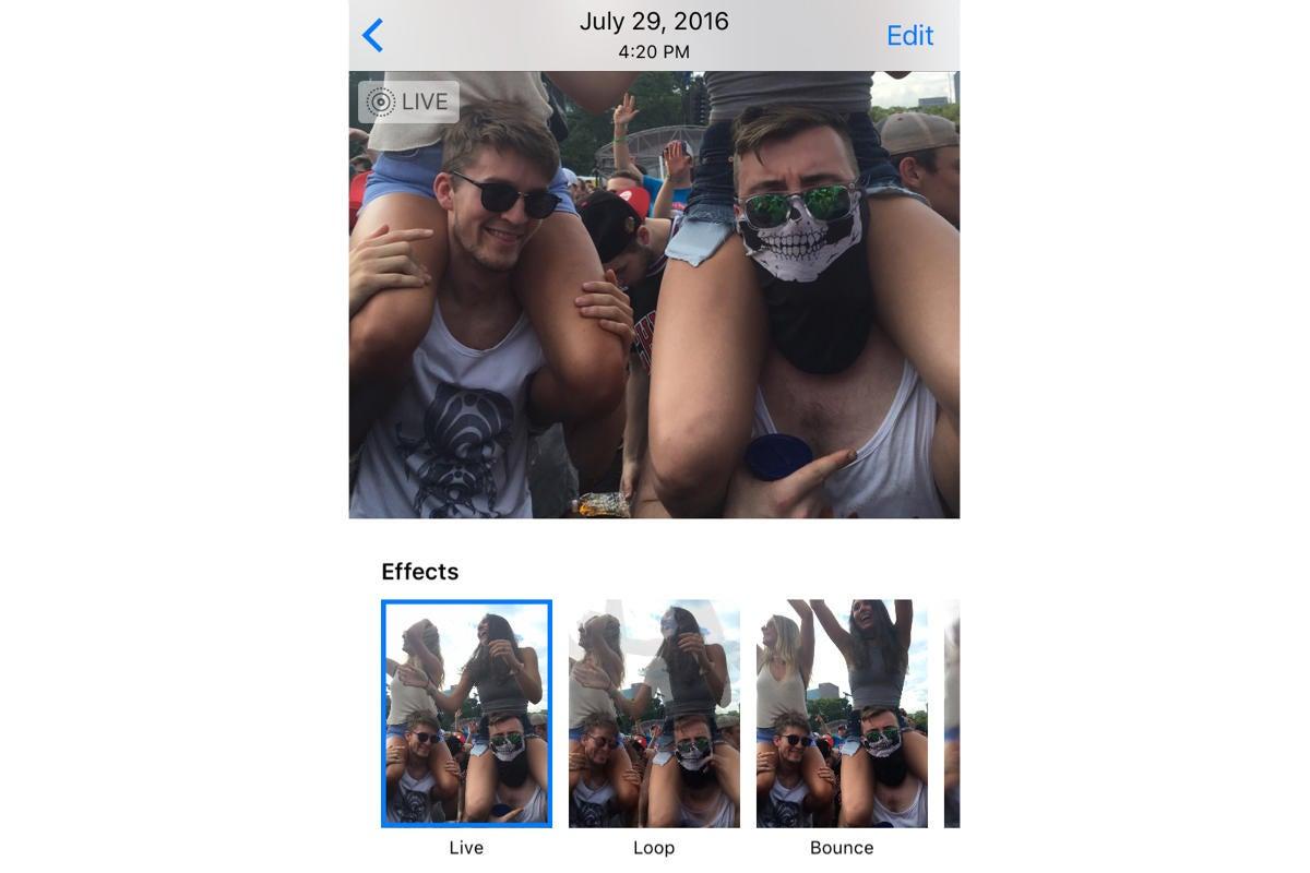 ios 11 live photos effects