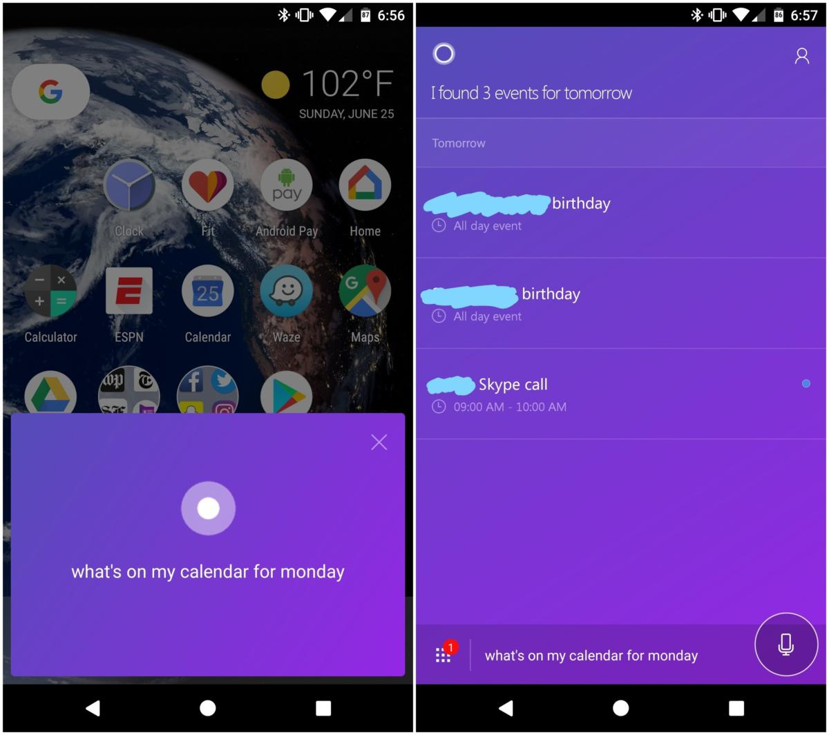 launch cortana android
