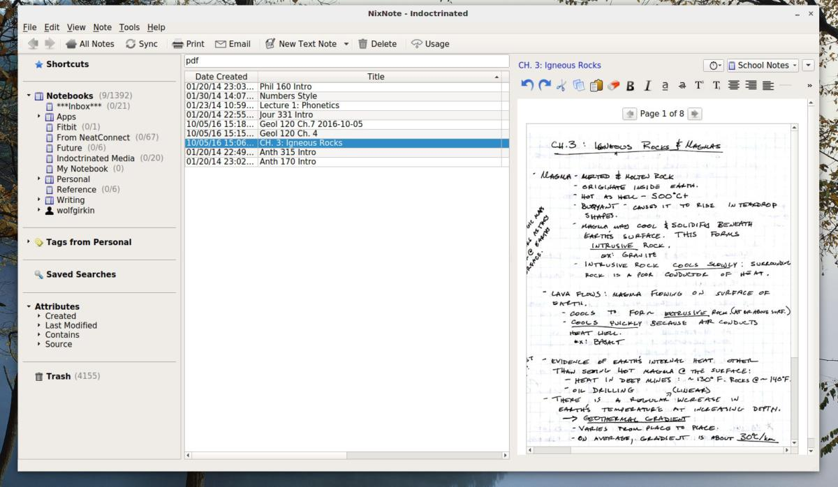 linux nixnote2 inline pdf