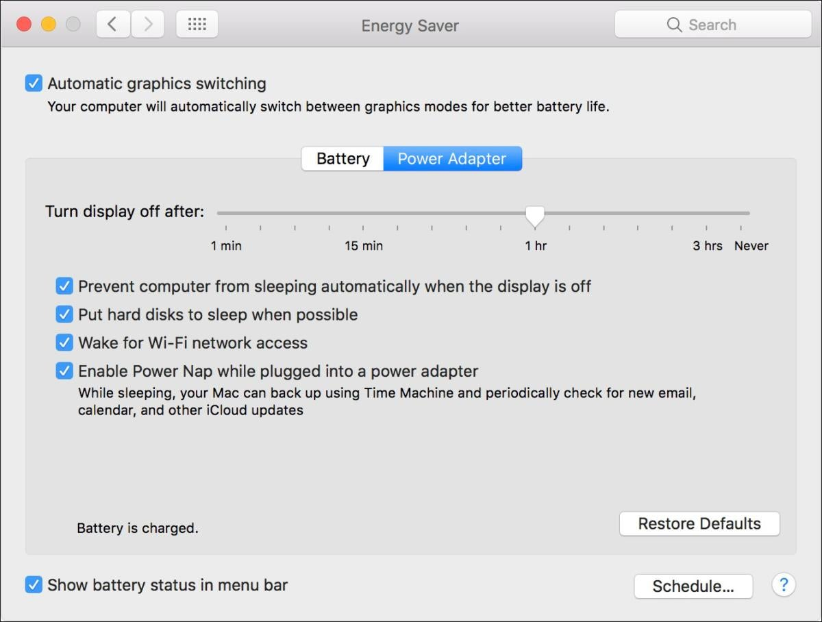 mac911 energy saver gpu choice