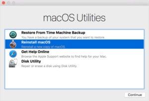 mac911 macos sierra recovery mode reinstall