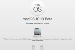 macos high sierra beta installation screen