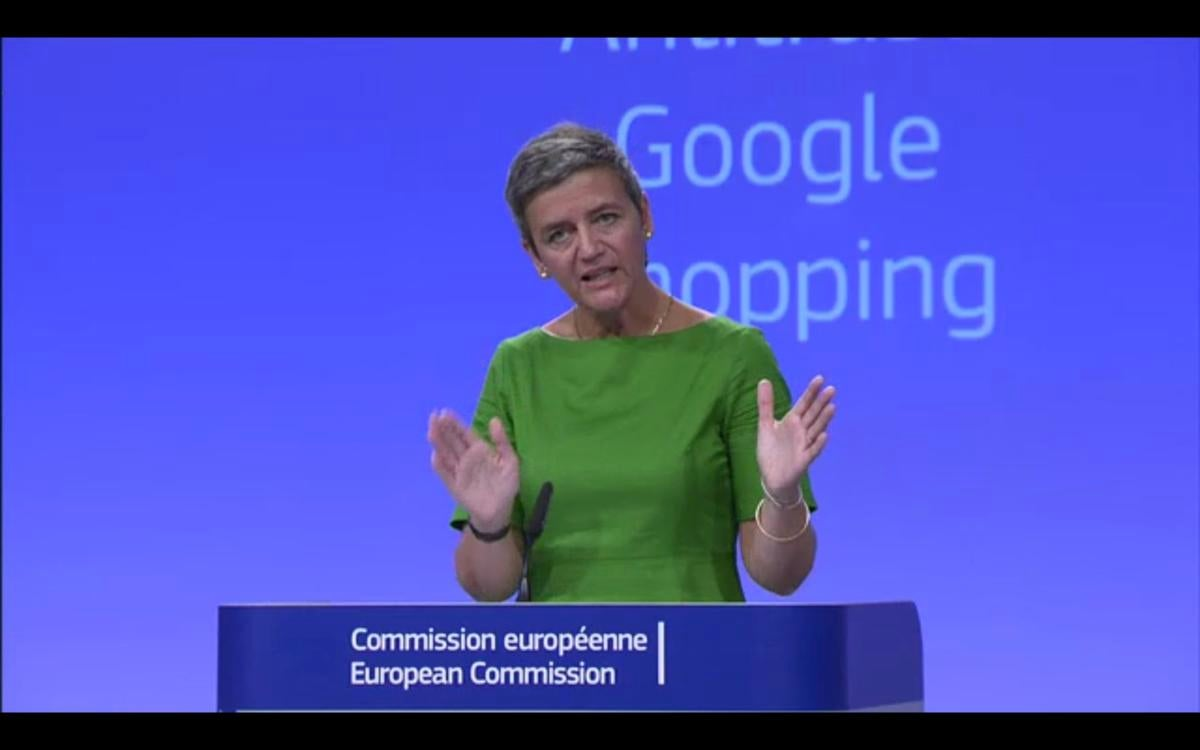 margrethe vestager google shopping, EU