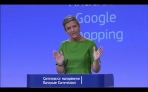 margrethe vestager google shopping, EU