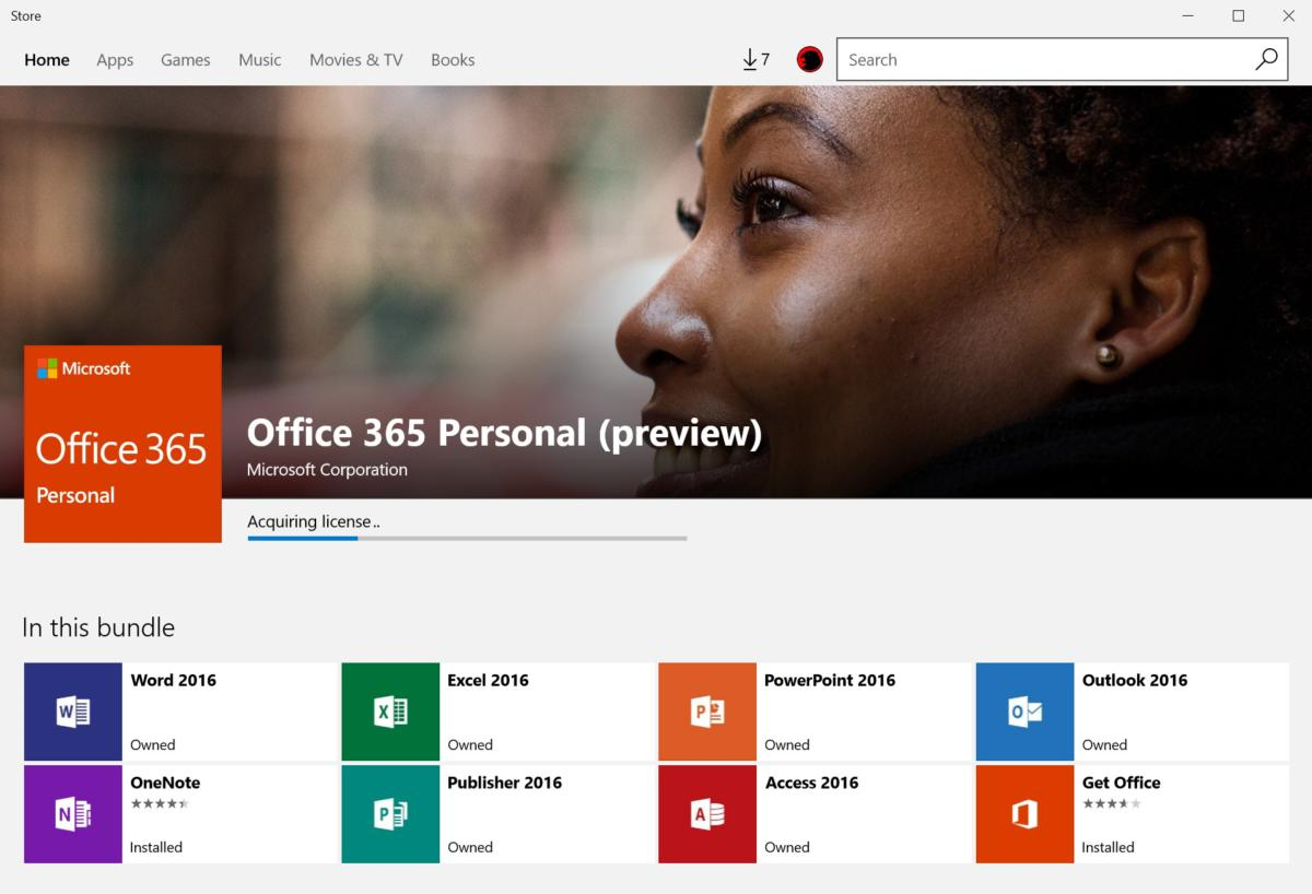 Windows 10 S app store Office Preview