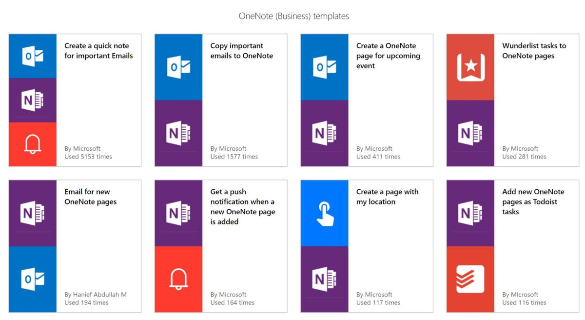 one note add ins microsoft flow
