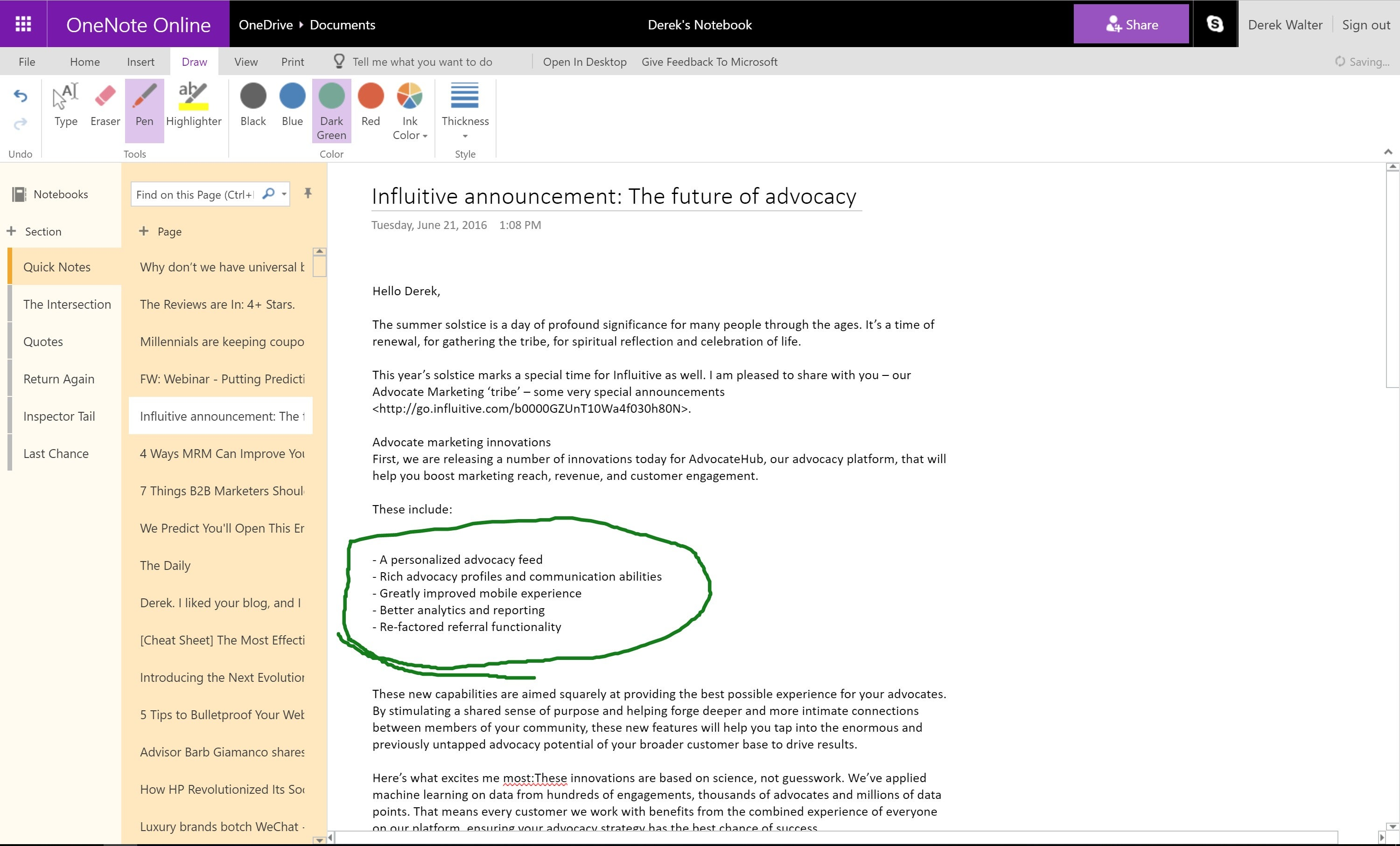 one note Onenote is a note taking app from microsoft that makes it easy to sync your ideas, sketches and notes across all your devices connect to your office 365 account with onedrive for business.