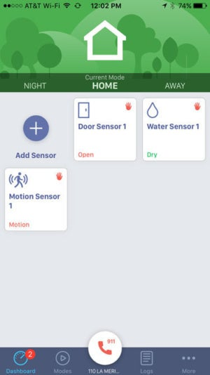 Ooma home security user interface