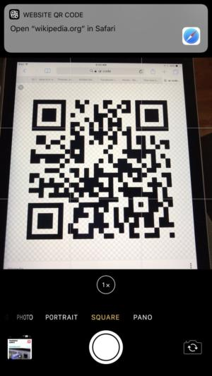 qr code ios11 url recognition
