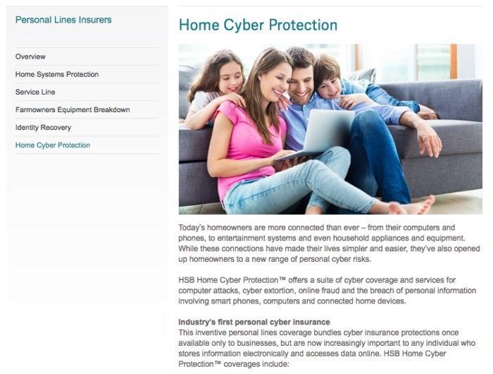 screenshot munich re website