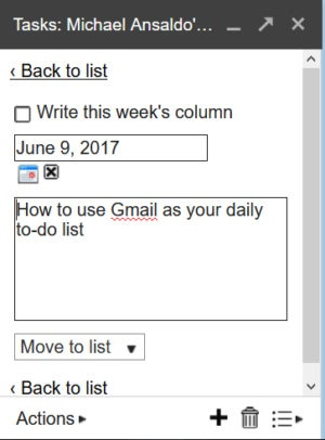 daily tasks list