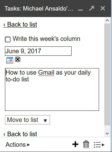 how to add an email to google tasks