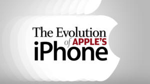 the evolution of apples iphone