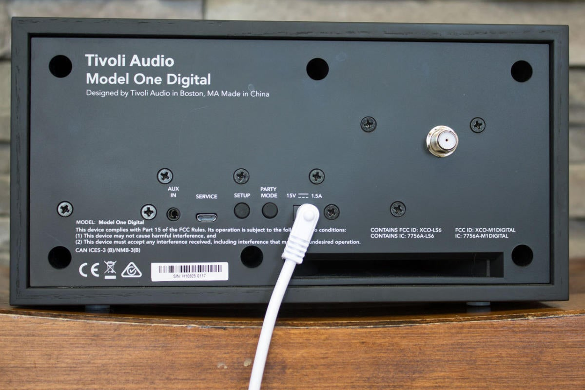 Tivoli Model One Digital back