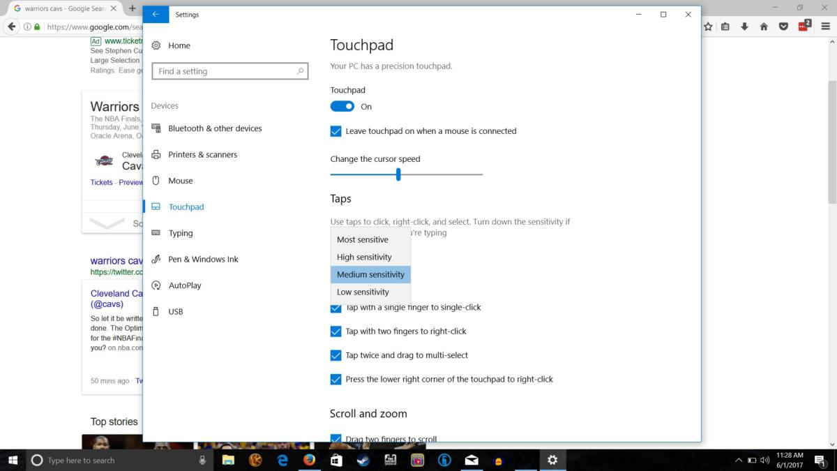 Windows 10 customize touchpad | PCWorld