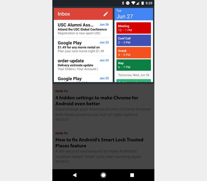 Snap Swipe Drawer Android app