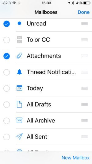 add new mailbox views