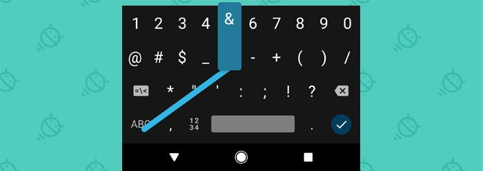 Android Keyboard Shortcuts: Symbols (1)