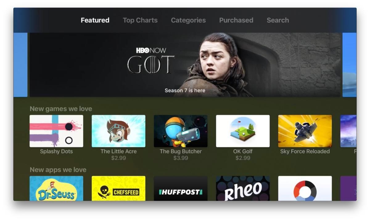 tienda de aplicaciones de apple tv