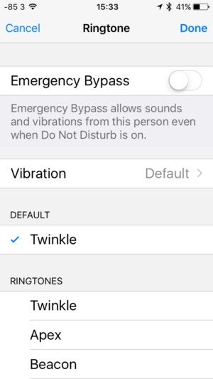 assign ringtone to contact