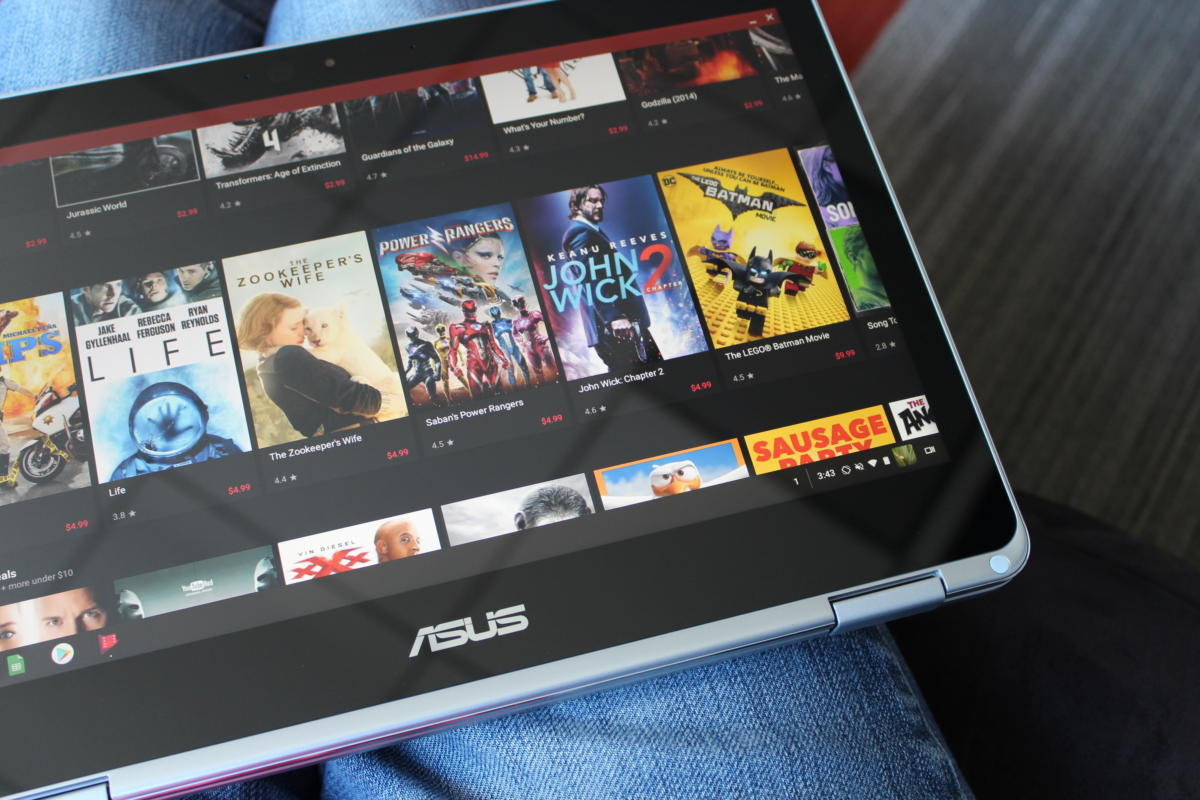 asus chromebook flip c302a tablet movie